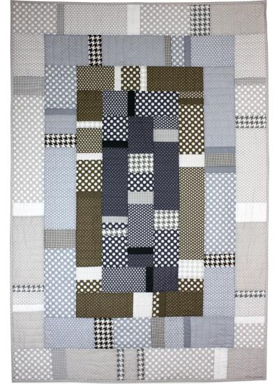 Urban Abstraction Quilt by Marinda Stewart