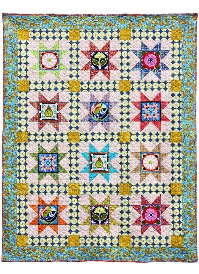 Valencia 8 Pointed Star Quilt By Jessica Lane 56x70