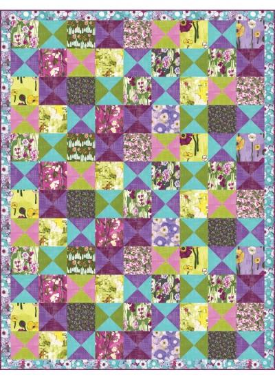 """Vignette Patchwork Quilt by Heidi Pridemore  / 58x76"""""""