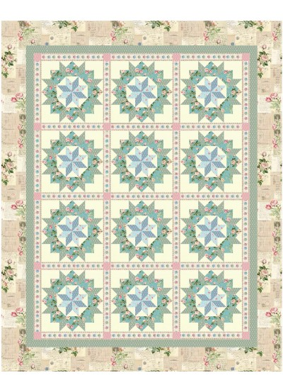 "Virginia reel Quilt by Christine Stainbrook / 72""x90"""