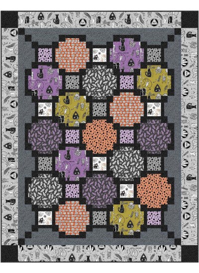 "Focus Pocus Quilt by Swirly Girls Design 72""x92"""