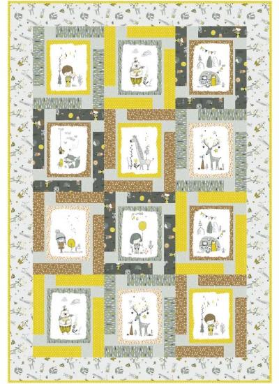 """Block Talk Quilt by Swirly Girls Design /45""""x66"""""""
