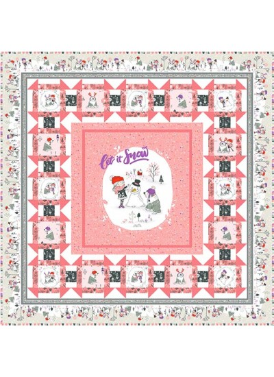 "Snow Fun Quilt by Christine Stainbrook 49""x49"" -Pattern Available September, 2021"