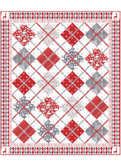 Woodland Winter Quilt by Heidi Pridemore /59x71""