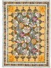 """Balinese Flowers Quilt by Denise Russell of Pieced Brain /46.5""""x64-3/4"""""""