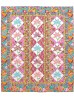 """Kashmir Blooms Quilt by Marsha Moore /53.5""""x63.5"""""""