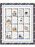 """Meow About Town Quilt by Wendy Sheppard /43-1/2x54-1/2"""""""